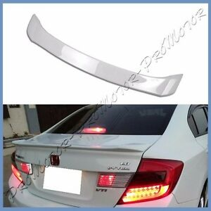 Painted 12 2013 Honda Civic 9th Oe Type Trunk Wing Spoiler Lip Fit Dx Ex Lx 4dr