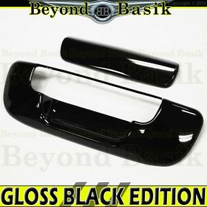 Dodge Ram 2002 2008 1500 2500 Gloss Black Tailgate Handle Cover Overlay Molding