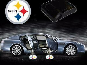 2pcs Nfl Pittsburgh Steelers Wireless Car Led Ghost Shadow Projector Door Lights