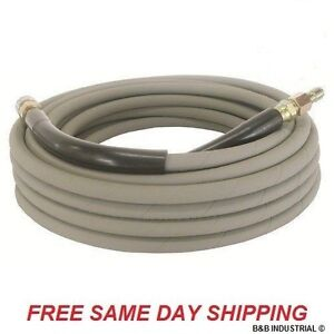 50 Pressure Washer Hose Non marking 4000 Psi 50 Ft Length W Qc Industrial