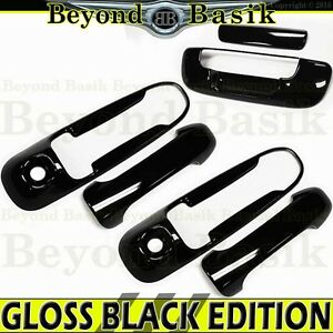 For 2002 2008 Dodge Ram 1500 2500 Gloss Black 2 Door Handle Covers 2 Kh tailgate