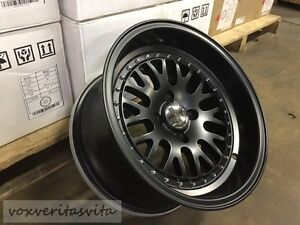 15 Lm20 Style Wheels Rims Black 4 Lug 4x100 Brand New Set Of 4 Aggressive Fit