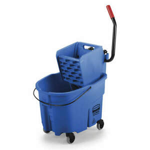 Rubbermaid Mop Bucket And Wringer 8 3 4 Gal blue Fg758888blue Blue