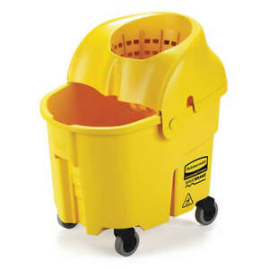 Rubbermaid Mop Bucket And Wringer 35 Qt funnel Fg759088yel Yellow