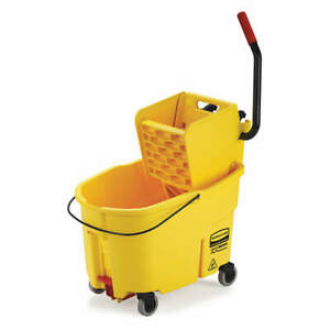 Mop Bucket And Wringer 11 Gal yellow Fg618688yel