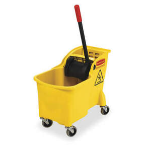 Mop Bucket And Wringer 7 75 Gal yellow Fg738000yel