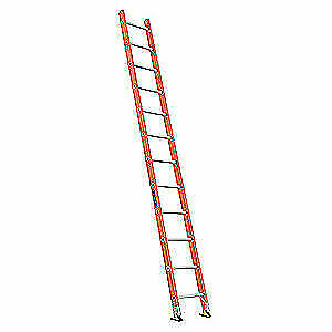 Louisville Fiberglass Straight Ladder 12 Ft 300 Lb fg Fe3112