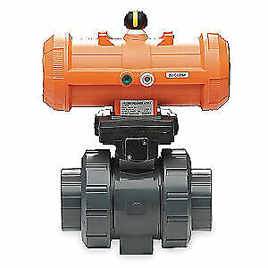 Gf Piping Systems Ball Valve double Acting 2 In pvc 199233108
