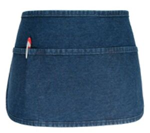 6 Fame Fabric F9 3 Pocket Denim Waist Aprons Round Bottom Super High Quality