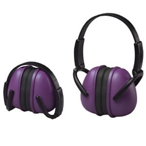 4 Purple Ear Muffs Hearing Protection Folding Adjustable Work hunting shooting