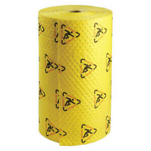 Brady Spc Ab Polypropylene Absorbent Roll chem hazmat ylw 300ft L Ch303 Yellow