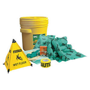 Brady Spc Absorbents Spill Kit Chem hazmat Yellow Skh 20 rescue Yellow