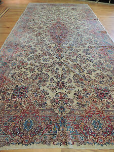 Antique Oversize Palace Size Signed P Kermn 8x18 Oriental Area Rug Runner
