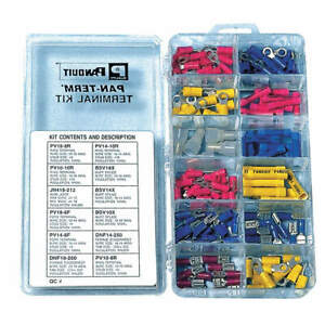 Panduit Wire Terminal Kit crimp Trminls 160 Pcs Kp 1075y