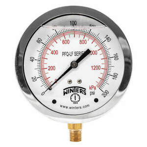 Winters Gauge pressure 4in 0 To 200 Psi Pfq713lf