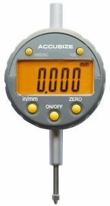 Accusizetools 0 1 2 X 0 00005 Electronic Digital Indicator With Yellow Lcd