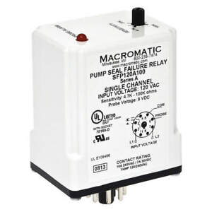 Macromatic Pump Seal Failure Relay spdt 8pin 120vac Sfp120a100