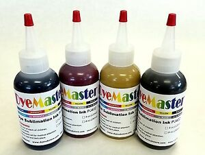 Dyemaster Sublimation Ink Cmyk Combo Pack 4 Oz 120ml X 4 Bottles