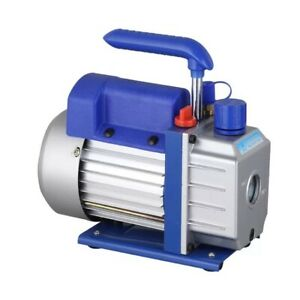 Electric Rotary Vane Vacuum Pump Air Tool Two stage 7cfm Oil Capacity 370ml