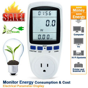 Lcd Power Monitor Energy Consumption Meter Kwh Electricity Analyzer Calculator