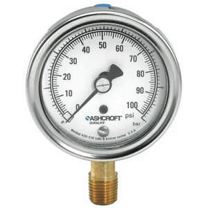 Ashcroft Gauge pressure 0 To 160 Psi 1 Percent 251009aw02l160