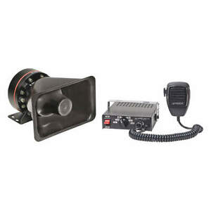 Wolo Plastic Siren And Pa System 4 In L 6a 12vdc 4000 2