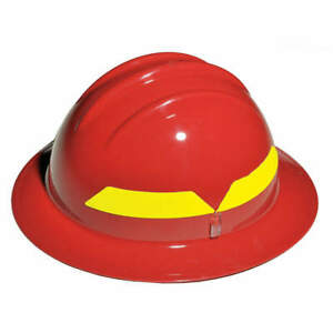 Bullard Fire Helmet red full brim Fhrdp Red