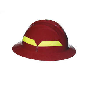 Bullard Fire Helmet red full brim Fhrdr Red
