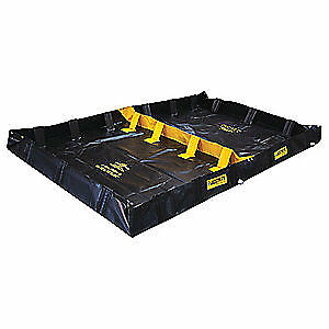 Justrite Vinyl Decon Berm Hazmat 2 Compartment 8 In 28570 Black yellow