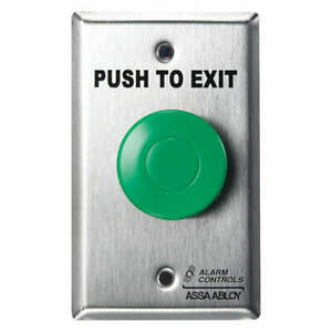 Alarm Contro Plastic Push Button 5 In H w pneumatic Switch Ts 14 Silver green