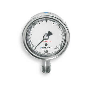 Ashcroft Pressure Gauge 0 To 60 Psi 2 1 2in 1 4in 251009sw02lx6b60
