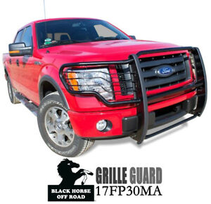 Black Horse For 09 214 Ford F150 Grille Brush Guard Bumper Push Bar 17fp30ma