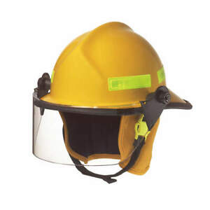 Cairns Fire Helmet yellow modern 660cfsy Yellow