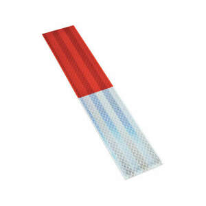 3m Vinyl Reflective Tape Strips red white pk10 983 326 Red white