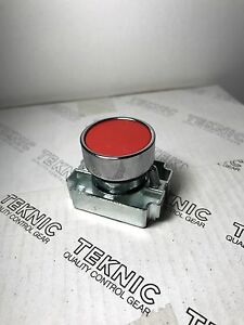 New 1x 2af3 22mm Push Button Metal Momentary Red Flush Operator Teknic
