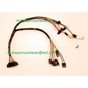 Console Wiring Harness A t W Console Gauges 1968 Chevy Camaro 68