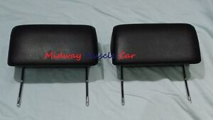 Black Headrest Pr 66 67 Chevy Pontiac Gto Chevelle Cutlass 442 Gs Impala