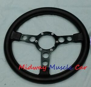New Formula Steering Wheel Black Spokes 70 81 Pontiac Firebird Trans Am Firebird