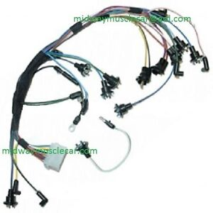 Dash Instrument Cluster Feed Wiring Harness 67 Ford Mustang With Tach