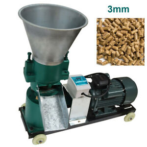 A 3mm 3kw Farm Animal Pellet Mill Chicken Feed Pellet Duck Mill Machine 220v