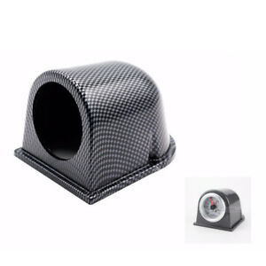 2 52mm Carbon Fiber Car Single Hole Gauge Dash Mount Pod Holder Universal