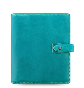 Uk Filofax A5 Size Malden Organiser Planner 2017 Diary Blue Leather 026027 New