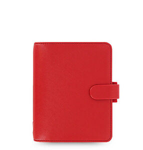 Uk Filofax Pocket Size Saffiano Organiser Planner Diary Poppy Red 022471
