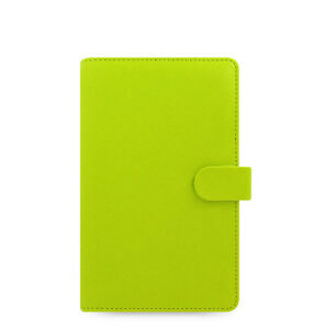 Uk Filofax Compact Size Saffiano Organiser Planner Diary Pear Leather 022529