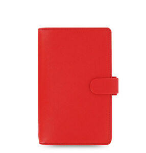 Uk Filofax Compact Size Saffiano Organiser Planner Diary Poppy Red 022472