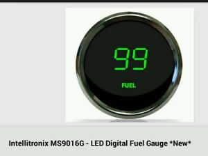 Intellitronix Ms9016g Led Digital Fuel Gauge Green 2 1 16 0 To 99 New