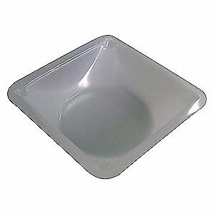 Lab Polystyrene Weighing Dish white 1in d pk500 38xj81 Light Transparent White
