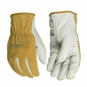 Grain Deerskin Leather Work Glove Deer Skin Mechanics Driver Safety Glove 2 Pair