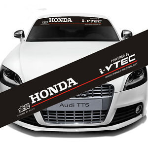 Reflective Honda Windshield Banner Decal Sticker Front Rear Racing Car For Honda