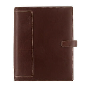 Uk Filofax A5 Size Holborn Organiser Notebook Diary Brown Leather 025122